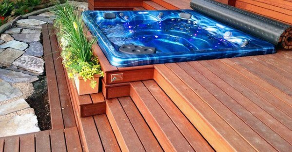 Unique Hot Tub Deck