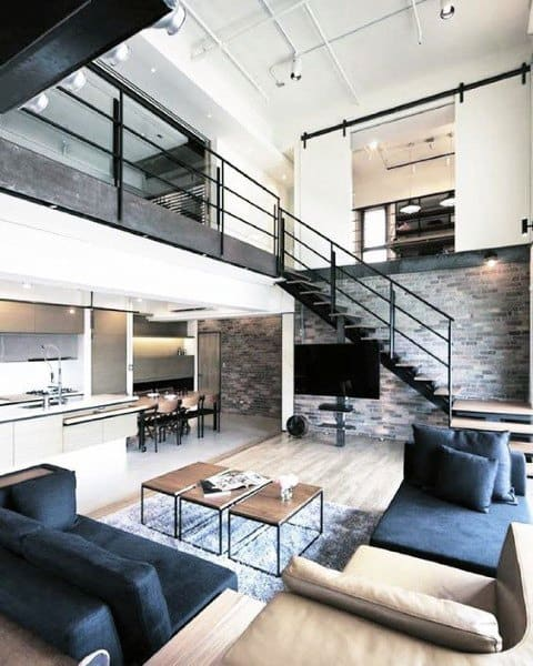 15 Amazing Interior Design Ideas For Modern Loft: Cool Two Story Designs