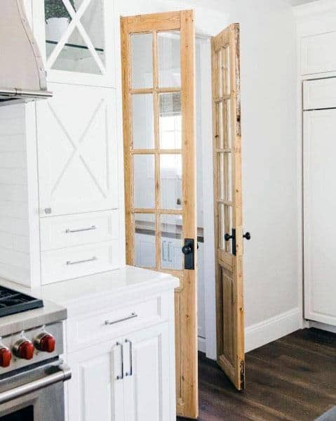 Unique Kitchen Pantry Hinged Double Doors