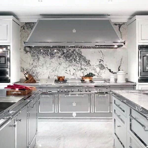Unique Kitchen Tile Floor Designs White Marble