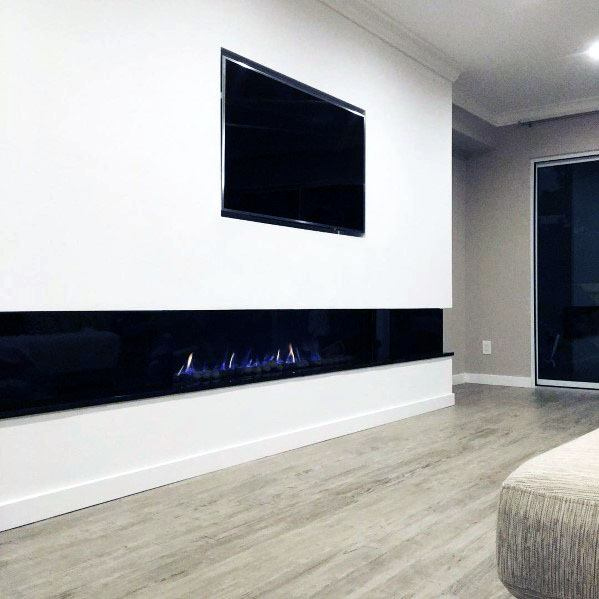 Top 60 Best Linear Fireplace Ideas Modern Home Interiors
