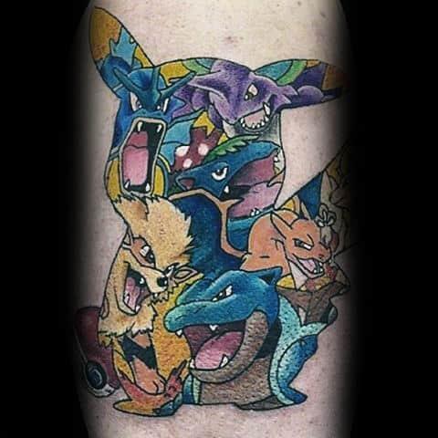 Unique Male Pokemon Chest Tattoo Design Ideas