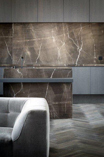 Thiết kế ốp đá cẩm thạch độc đáo cho nhà bếp hiện đại