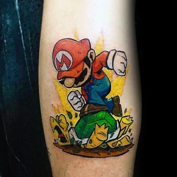 Unique Mario Video Game Tattoos For Men