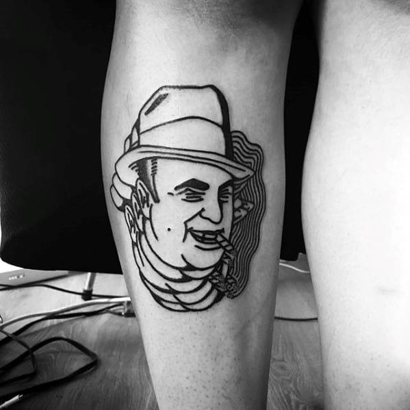 Unique Mens Al Capone Tattoos