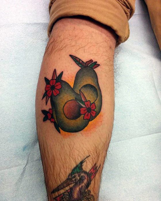 Unique Mens Avocado Tattoos