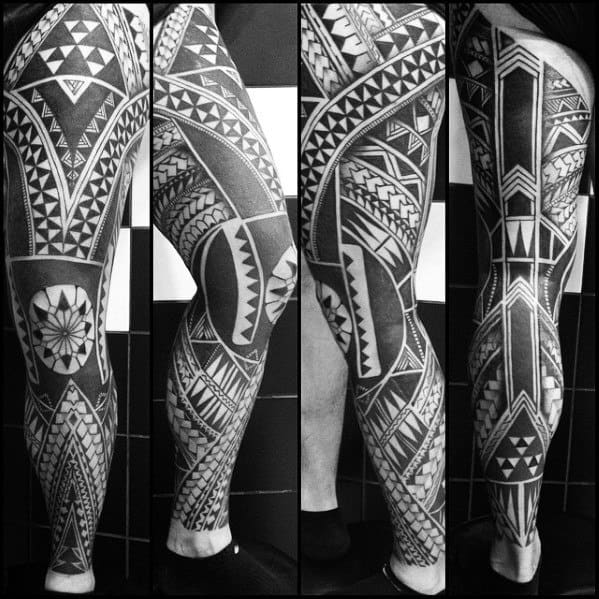Unique Mens Awesome Tribal Tattoos