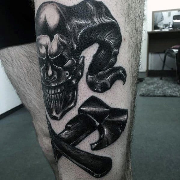 Unique Mens Axe Tattoos