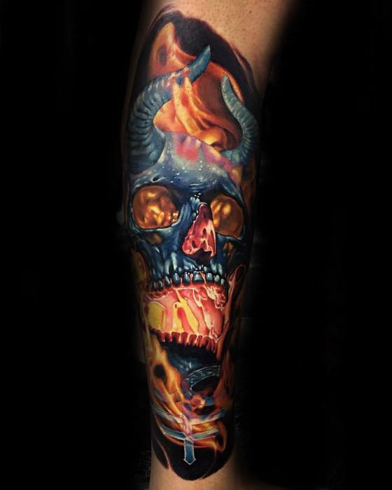 Unique Mens Badass Skull Tattoos