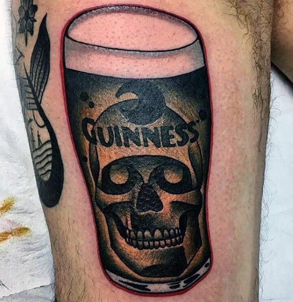 Unique Mens Beer Tattoos