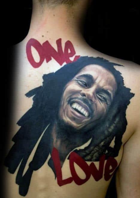 Unique Mens Bob Marley Tattoos