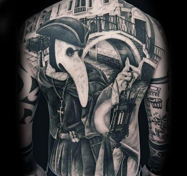 Unique Mens Bridge Full Back Tattoo Designs