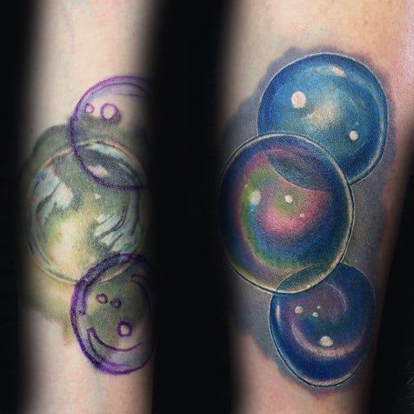 Unique Mens Bubble Tattoos
