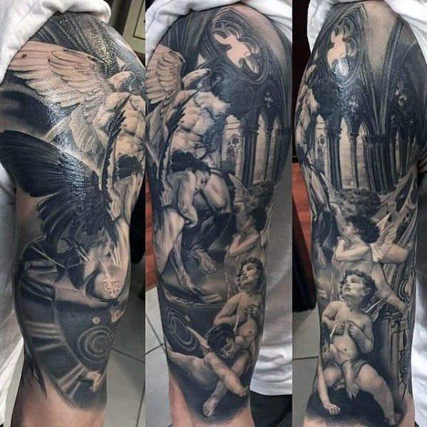 Unique Mens Cathedral Tattoos