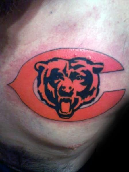 Unique Mens Chicago Bears Tattoos