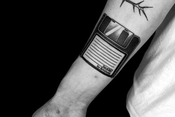 Unique Mens Computer Tattoos