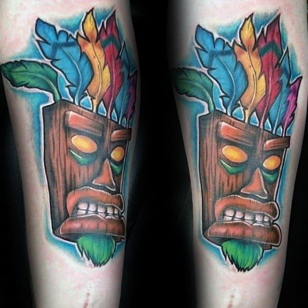 Unique Mens Crash Bandicoot Tattoos