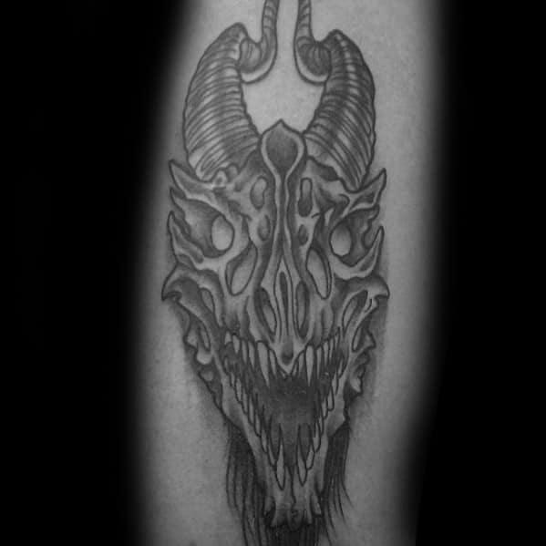 Unique Mens Dragon Skull Tattoos