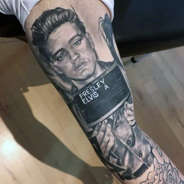 60 Elvis Presley Tattoos For Men King Of Rock And Roll