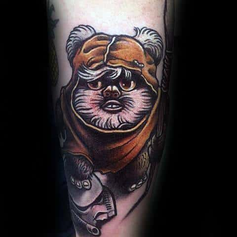 Unique Mens Ewok Tattoos