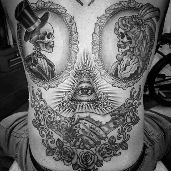 Unique Mens Eye Of Providence Back Tattoos