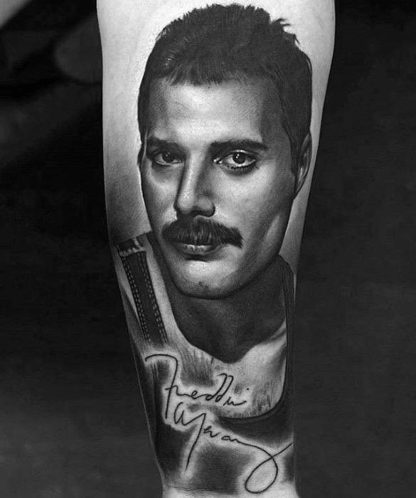 Unique Mens Freddie Mercury Tattoos