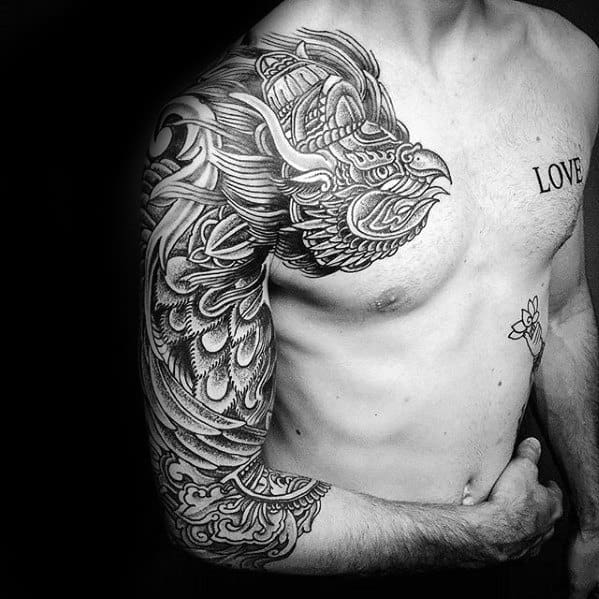 Unique Mens Garuda Tattoos