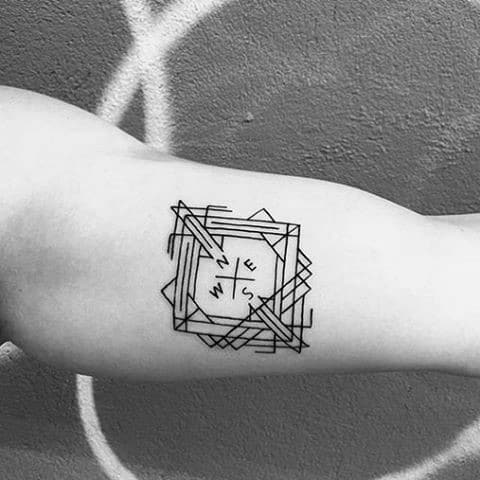 Unique Mens Geometric Compass Tattoos