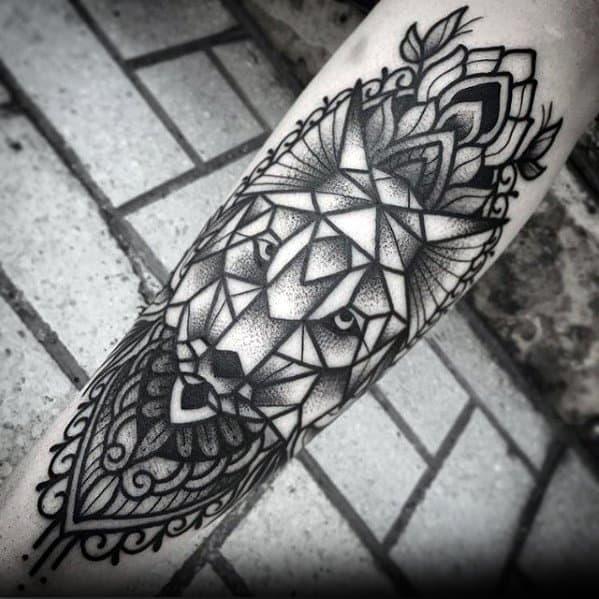 Unique Mens Geometric Forearm Tattoos