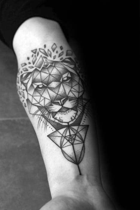 Unique Mens Geometric Tiger Tattoos