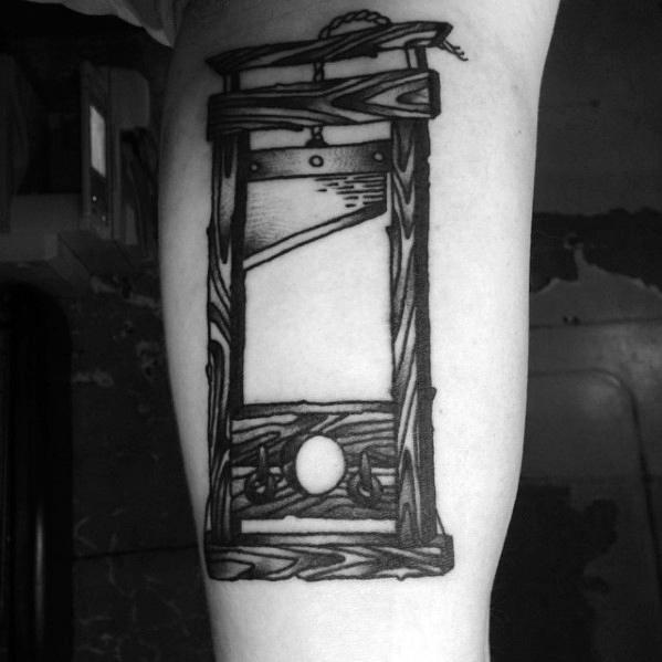 Unique Mens Guillotine Tattoos