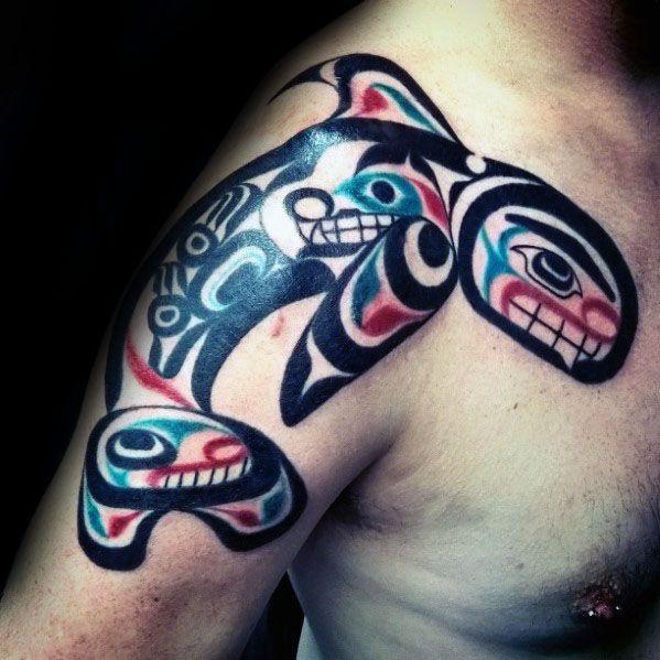 60 orca tattoo designs for men killer whale ink ideas. Black Bedroom Furniture Sets. Home Design Ideas