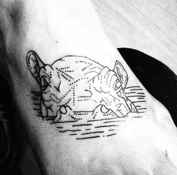 Unique Mens Hippo Tattoos