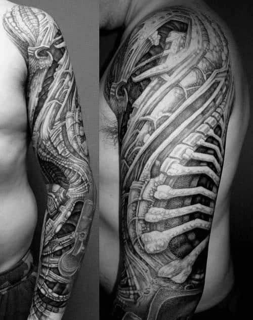 Unique Mens Hr Giger Tattoos