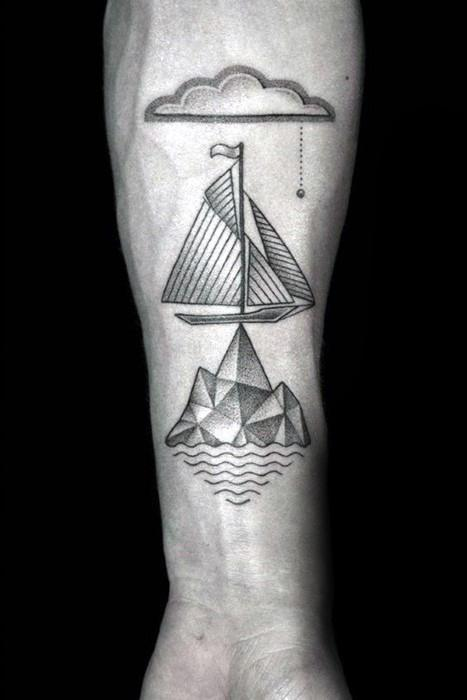 Unique Mens Iceberg Tattoos