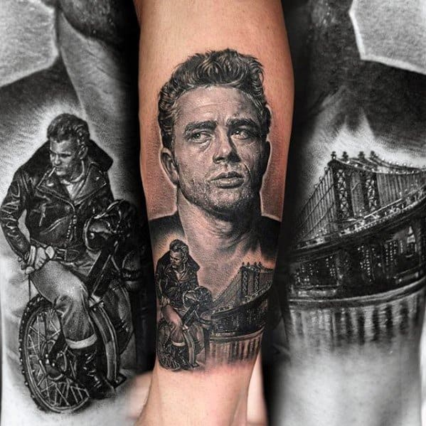 Unique Mens James Dean Tattoos