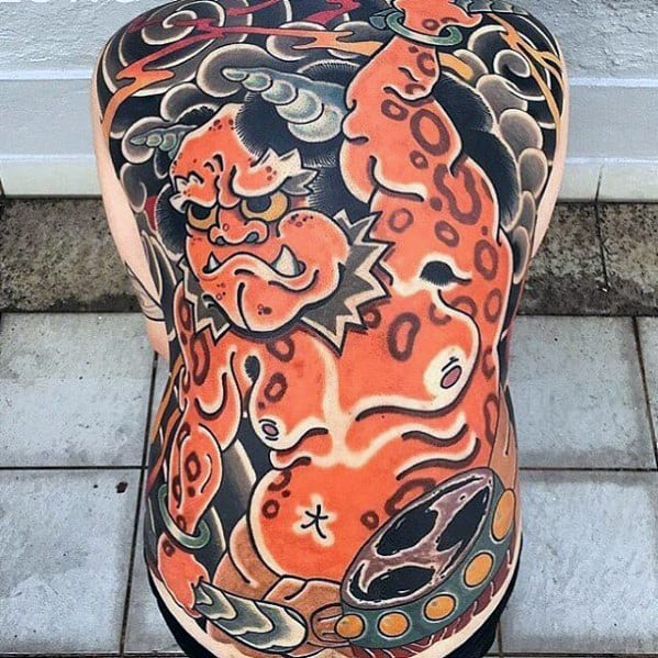 Unique Mens Japanese Full Back Tattoo Ideas