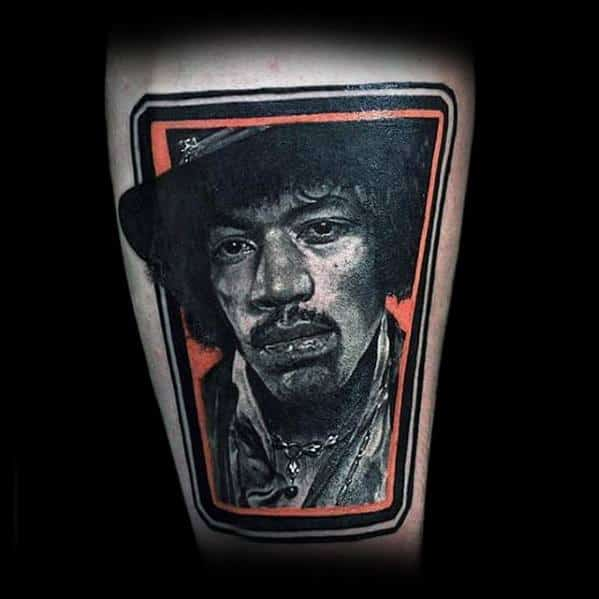 Unique Mens Jimi Hendrix Tattoos