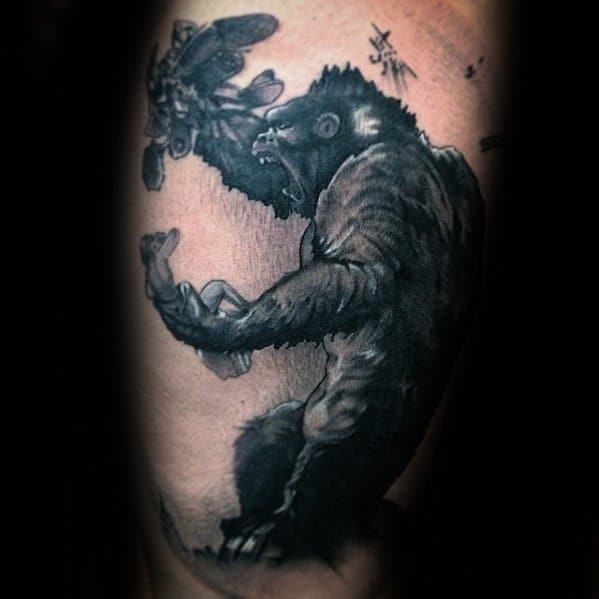 Unique Mens King Kong Tattoos