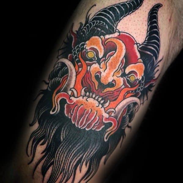Unique Mens Krampus Tattoos