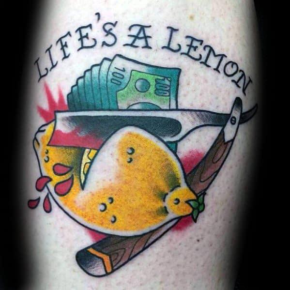 Unique Mens Lemon Tattoos