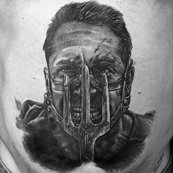 Unique Mens Mad Max Back Tattoos