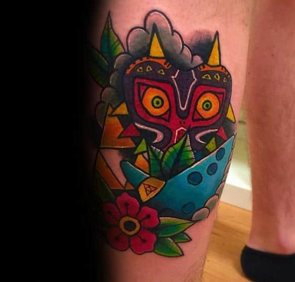 Unique Mens Majoras Mask Tattoos