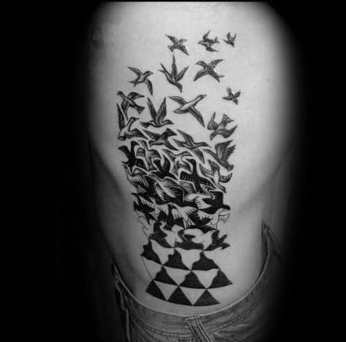 Unique Mens Mc Escher Tattoos