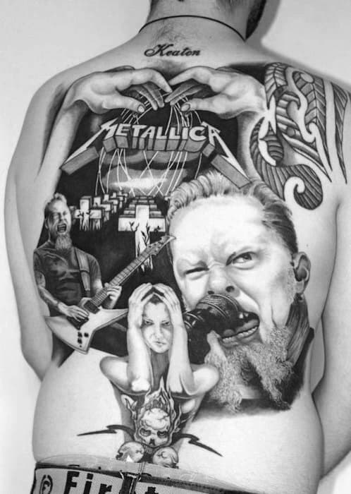 Unique Mens Metallica Tattoos