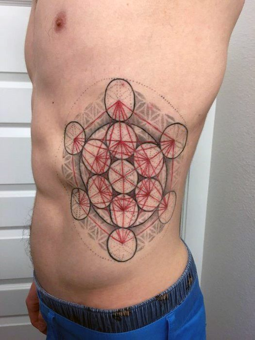 Unique Mens Metatrons Cube Tattoos
