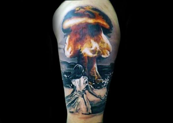 Unique Mens Mushroom Cloud Tattoos