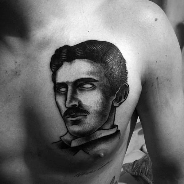 Unique Mens Nikola Tesla Tattoos