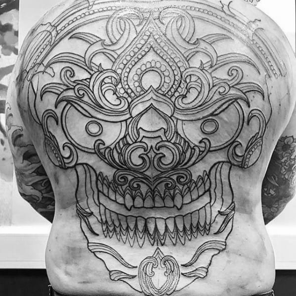 Unique Mens Outline Tattoos