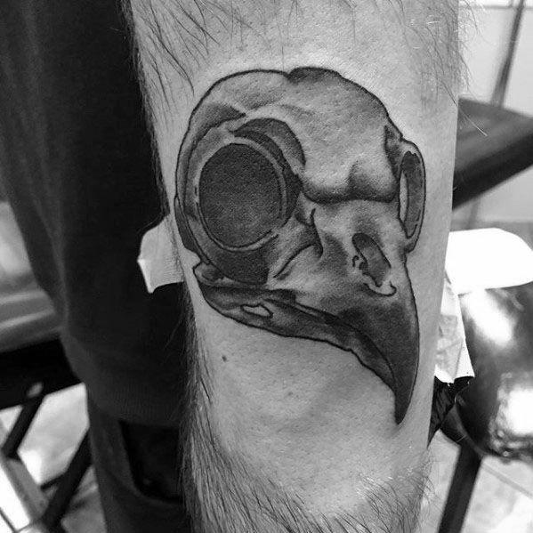 Unique Mens Owl Skull Tattoos